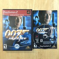 007 Nightfire James Bond Playstation 2 PS2 Complete CIB Manual Tested