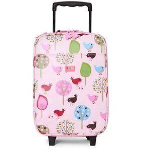 Penny Scallan Design Wheelie Bag Children's Luggage In Chirpy Bird-Coated Cotton