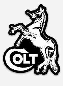Colt Custom Logo Die Cut Magnet for Fridge or Toolbox Firearms Gun