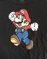Super Mario Xl 2010 T Shirt Black Nintendo
