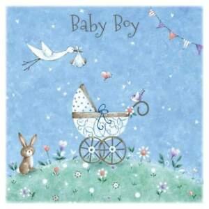 Congratulations on your Baby Boy Greeting Card with Envelope