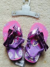 Disney Store Princess Sofia Purple Flip Flops Back Strap Size 5/6 Fit 2-3 Yr NWT
