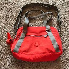 Kipling Coral Orange Tote Crossbody Bag