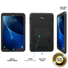 For Samsung Galaxy Tab A 10.1 | [Screen Shield] Shockproof Hard Cover Case Black