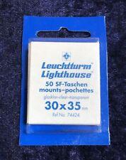 Leuchtturm 50 SF-Taschen mounts pochettes, glasklar-clear-transparent, 30x35 mm