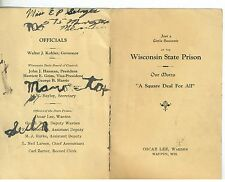 1920s Souvenir Bokklet of the Wisconsin State Prison Waupon