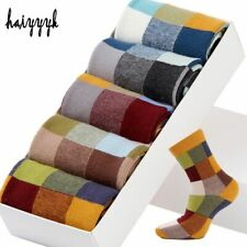 Socks Men Dress Colorful Square Compression Socks Wedding 5 Pairs/Lot