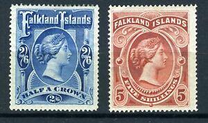 FALKLAND ISLANDS 1898. SG 41/42 COMPLETE SET SET MINT HINGED