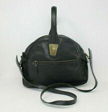 GUCCI Vintage Leather Handbag Crossbody Purse With Gold Hardware