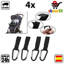4x Gancho clip bolsas silla bebe carrito cochecito colgar bolsa clips argolla *E