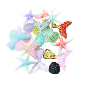 20pcs Sea Resin flatback embellishment For card making / phone decor /crafts
