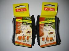 Two packs Decksaver Plant Garden Pot Toes Black 6 per pack Indoor Outdoor