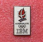 Pins J.O. ALBERTVILLE 92 Sponsor IBM Argenté Jeux Olympique Olympic Games