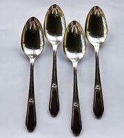 4 Wm Rogers Silverplate 1937 Memory Hiawatha Serving Spoons IS Vintage