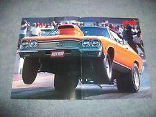 1968 Chevelle Malibu SS Drag Car Center Spread Magazine Picture