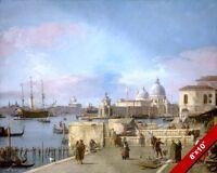 BEAUTIFUL VENICE CANALS ITALY ITALIAN PAINTING ART REAL CANVAS GICLEEPRINT