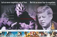 "Raleigh Bike ""John F. Kennedy""1997 Magazine 2 Page Advert #4523"