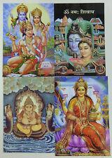 Hindu Postkarte Set (16) Hanuman - Ganesh - Shiva Pavarti - Lakshmi