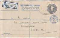 Great Britain London Registered Letter 1'9 Postage Max 3d Extra Stamps ref 22257