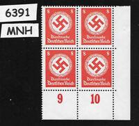 #6391   Mint PF08  Third Reich WWII Germany  MNH stamp BLOCK 1942 Third Reich