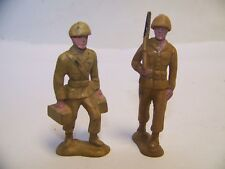TOY SOLDIER WITH RIFLE~BERGEN TOY & NOV. CO. INC. U.S.A.lot of 2