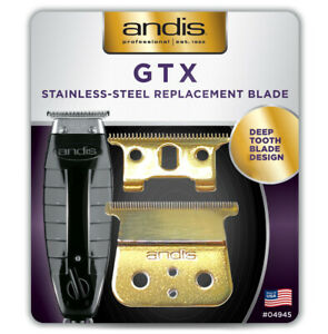🏆 Andis GTX Trimmer T-Outliner Replacement Blade #04850 in 24K GOLD for Barbers