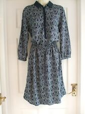 W Womens Size 12 Lillian Dress Blue Work Collared Ladies Smart Summer Evening