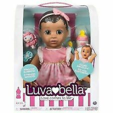 Luvabella 6038114 Brunette Hair Interactive Baby Doll with Expressions &...