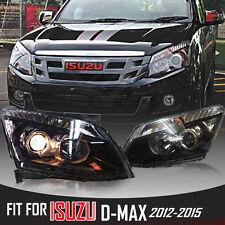 LH+RH Clear Projector Headlight lamp Fit For Isuzu D-Max Dmax Rodeo Ute 2012-15