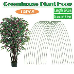12pcs Greenhouse Plant Hoop Grow Garden Tunnel Hoop Support Hoops Garden Stakes