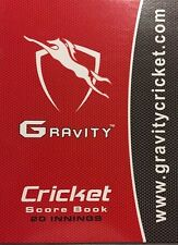 Gravity Cricket Coloured Score Book (48 Innings) AU Stock Next Day Ship