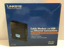 LINKSYS Cable Modem 100 Mbps model # CM100 with Ethernet Cable and Power Supply