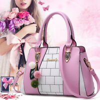 Women Leather Handbags Shoulder Lady Tote Messenger Satchel Crossbody Bag Purse