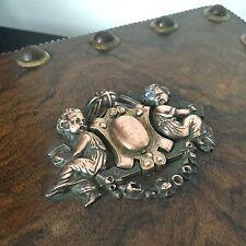 Boite A Bijoux Coffret Cherubins Putti XIXè Victorian French Box Napoleon III
