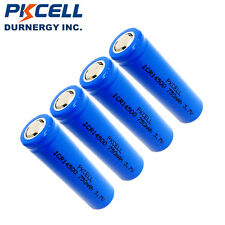 4x 3.7V ICR 14500 Battery AA Size Li-ion Lithium Rechargeable Batteries PKCELL