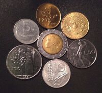 Italy Coin Lot - Full Set of Pre-Euro Italian Coins - Free Shipping!!!!
