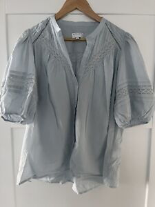 Witchery Lace Insert Blouse - Size 10 - Excellent Condition- Cute!