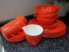 More details for vintage orange gaydon melmex & melaware dinnerware