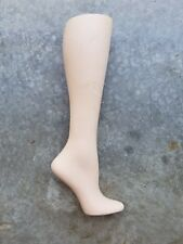 VTG RPM Industries Shoe Form, Hard Plastic Mannequin Leg, Stocking Display W-43