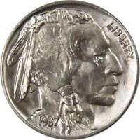 1937 5c Indian Head Buffalo Nickel US Coin BU Very Choice Uncirculated