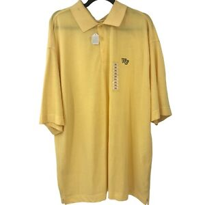 Wake Forest Demon Deacons Adult NCAA Polo Yellow Shirt Mens 3XL XXXL