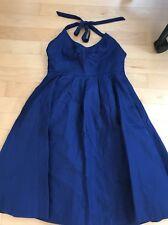 J. CREW  Lydia Cotton Cady  Navy Fit & Flare Halter Dress - Size 10  $250