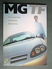 MG TF - RARE 2002 UK FULL BROCHURE with PRICE LIST & ACCESSORIES BROCHURE PACK!