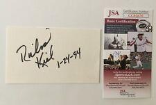 Richard Kiel Signed Autographed 3x5 Card JSA Certified James Bond Jaws