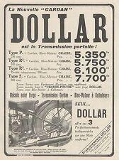 Y9873 Moto DOLLAR - Pubblicità d'epoca - 1930 Old advertising