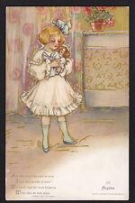c1908 Schmucker Playtime Girl with Doll Childhood Days series postcard