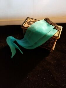 Cissy Doll Artist Made shaped Hose with built in Garter & Seam TEAL #33