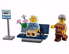 LEGO GRANDMA GRANDPA MINIFIGURES Grandparents Bus Stop Bench 60134