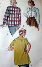 LOVELY VTG 1940s SHIRT Sewing Pattern 14/32