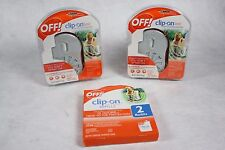 New Lot of 2 Off Clip-on Fan Circulated Mosquito Repellent + 2 Pack of Refills!